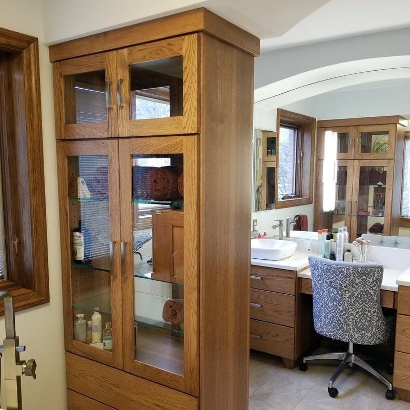 Brilliant Custom Bathroom Cabinet Makers Custom Woodworking Lansing Mi Interior Design Ideas Apansoteloinfo