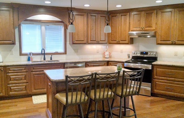 wood stain kitchen cabinets Greater Lansing MI