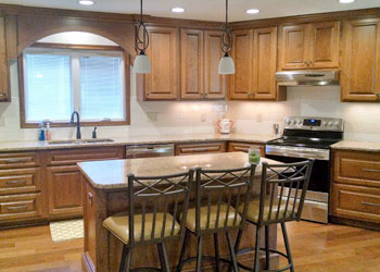 wood stain kitchen cabinets Greater Lansing Michigan